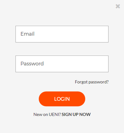 UENI Login dialogue