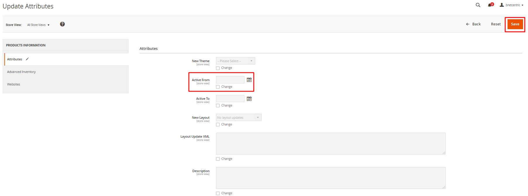 Magento 2: Bulk Updating Product Attributes